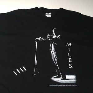 Mile Davis 1998 Shirt Official Jazz Trumpet Icon